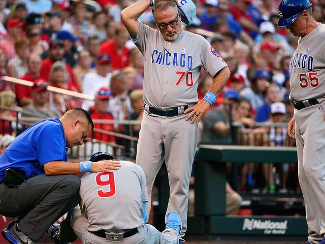 Baez hurt on HBP as Cubs miss out on sweep