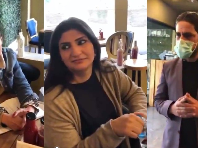 Café owners film themselves 'humiliating' employee over his English