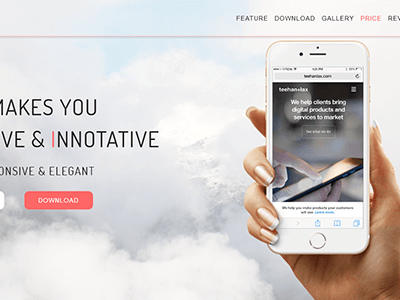 APPX_App Landing Page HTML (Technology)