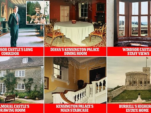Paul Burrell shares a glimpse of the view from inside the palaces he lived in