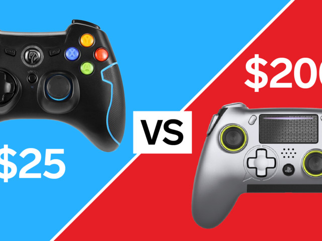 We compared the $200 Scuf Vantage PlayStation controller to the $25 EasySMX controller — and the winner was clear