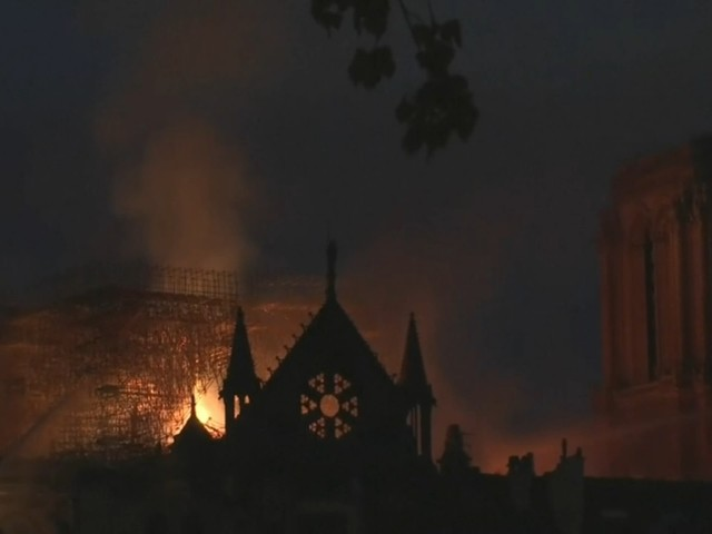 Notre Dame Fire: Paris police chief says cathedral structure has been saved after spire collapse