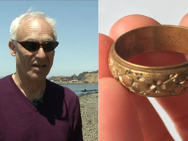 1949 wedding ring found washed ashore on Bay Area beach