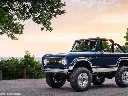 One lucky winner will be handed the keys to a custom '69 Bronco for a good cause