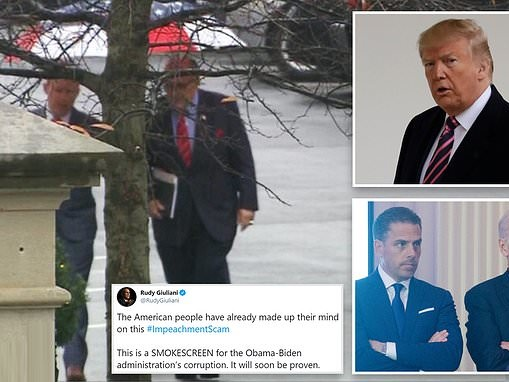Rudy Giuliani is spotted at the White House morning of impeachment vote