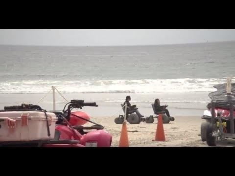 Beach Wheelchair Program Helps Riders Enjoy the Sand