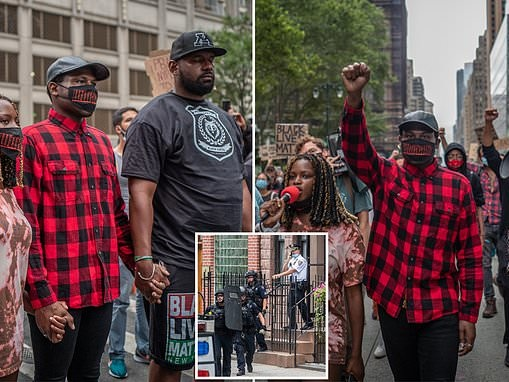 BLM protest organizer surrenders after NYPD officers failed to arrest him in six-hour stand-off