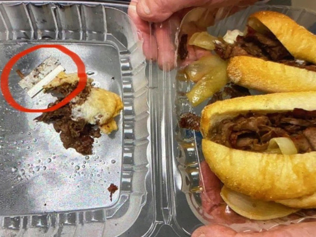 NYPD cop injured by razor blade stuffed inside his sandwich