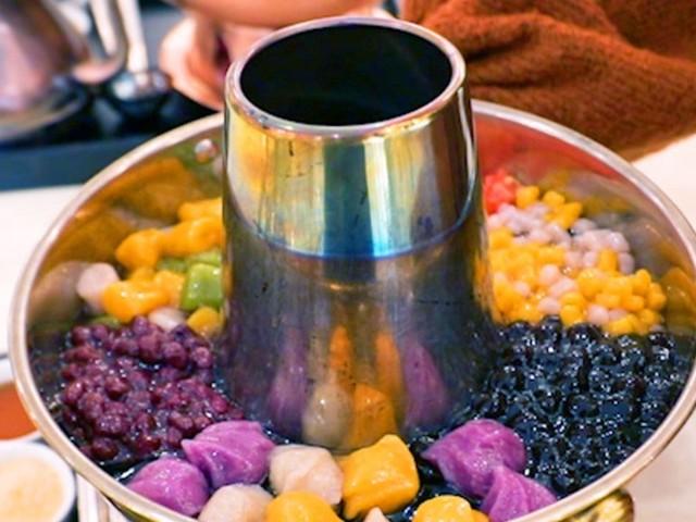 What bubble-tea hot pot tastes like