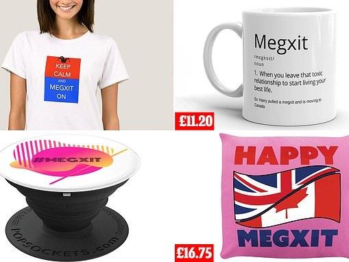 Hundreds of Megxit merchandise from cushions to mugs flood Amazon and eBay