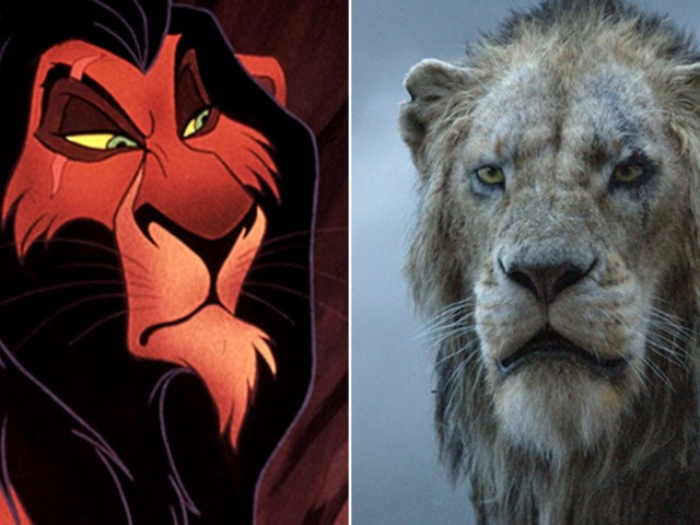 """See What the """"Live-Action"""" Lion King Characters Look Like Next to Their Cartoon Counterparts"""