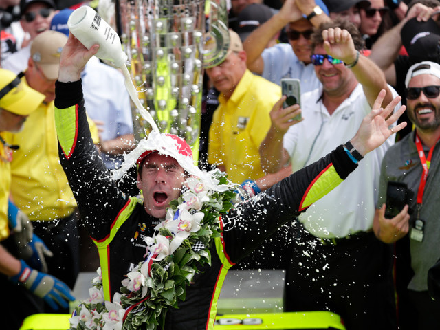 Simon Pagenaud and Penske win Indianpolis 500 sprint to finish