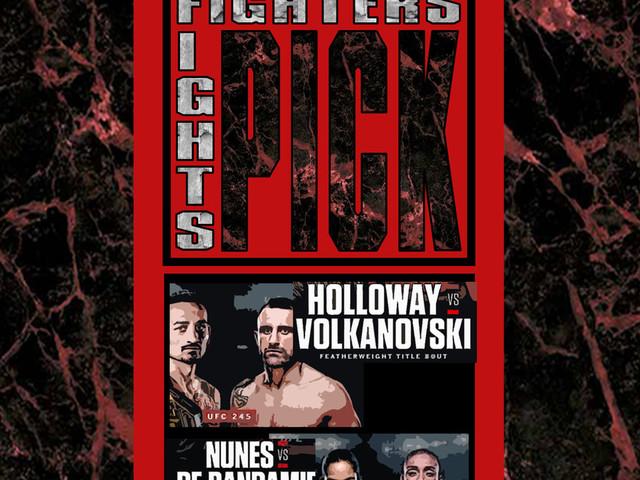 Max Holloway v Alex Volkanovski, Amanda Nunes v Germaine de Randamie - UFC 245: Fighters Pick Fights