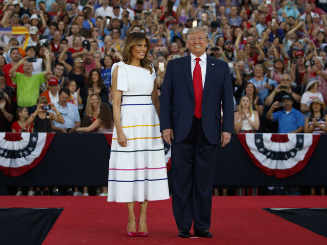 Melania Trump wears white summer dress at 'Salute to America' Fourth of July event