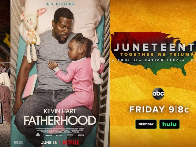 New this week: Kevin Hart in 'Fatherhood, 'iCarly' & 'Luca'