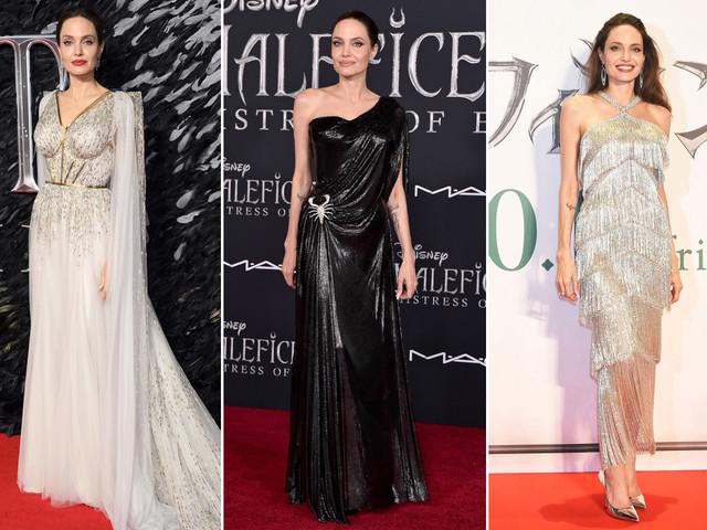 Angelina Jolie's marvelous 'Maleficent: Mistress of Evil' press tour looks