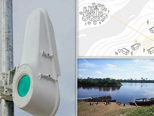 Google sends broadband across the Congo River via beams of light
