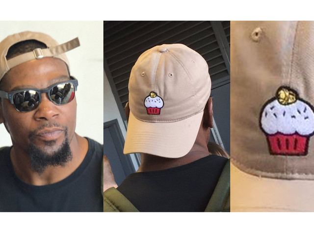 Kevin Durant wore a cupcake hat to a charity softball game and the NBA offseason is perfect