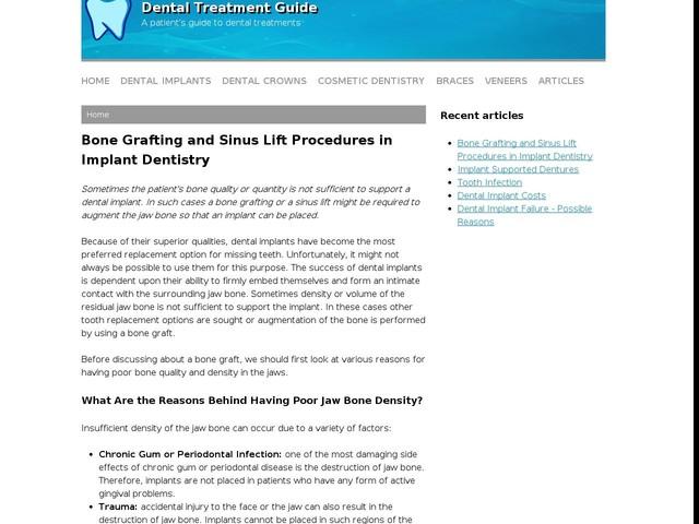 Bone Grafting and Sinus Lift Procedures in Implant Dentistry