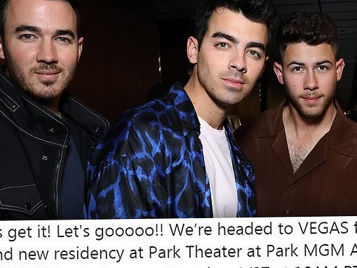 Jonas Brothers are heading to Las Vegas as they announce April residency at Park MGM