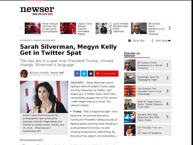 Sarah Silverman, Megyn Kelly Get in Twitter Spat