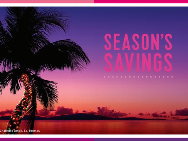 Season's Savings Sale offers bonus onboard credit on cruises booked this weekend