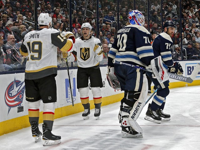 Golden Knights put halt to skid in Columbus