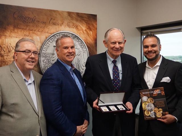 Westminster Mint Hosts Former Delaware Governor Mike Castle, NGC Vice...