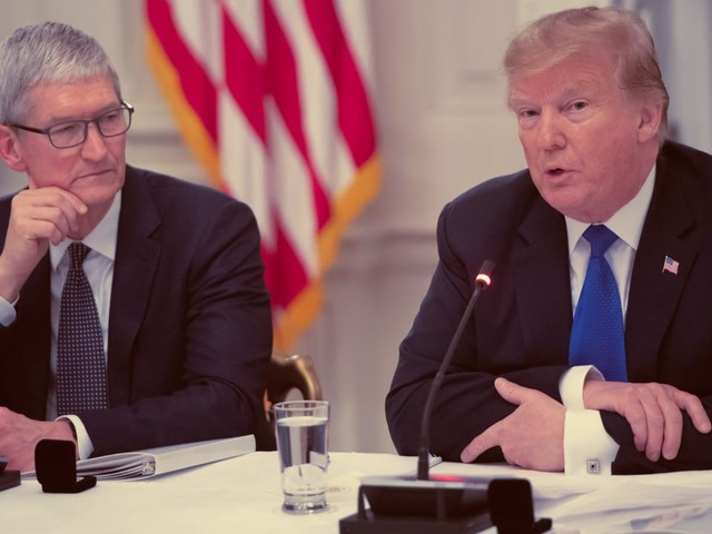 Trump says Tim Cook made a 'compelling case' that tariffs will hurt Apple