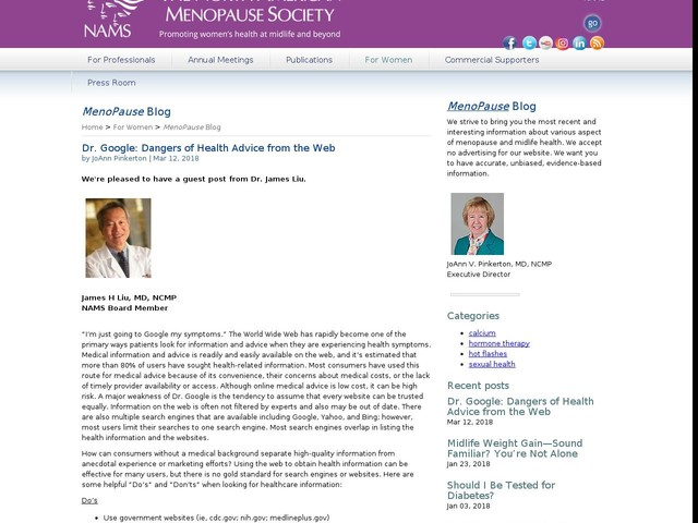 Dr. Google: Dangers of Health Advice from the Web