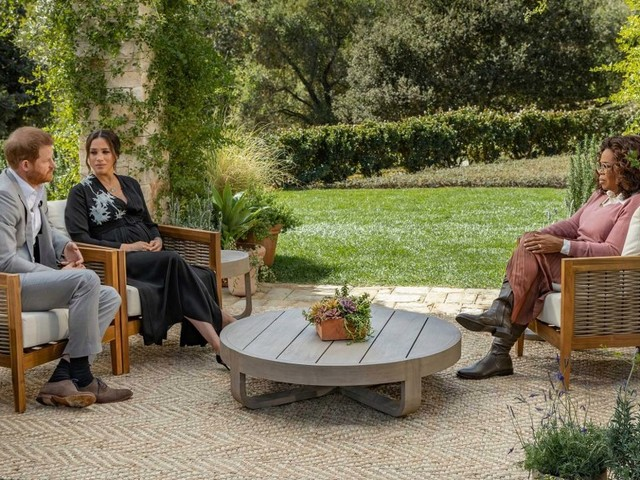 Patio chairs at center of Oprah's Meghan and Harry interview – made by a 'Brady Bunch' actor – sell out