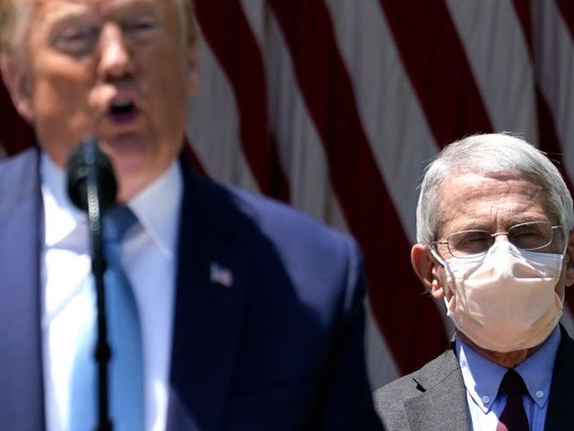 White House health expert Anthony Fauci said he wears a mask to be a 'symbol' of what 'you should be doing'