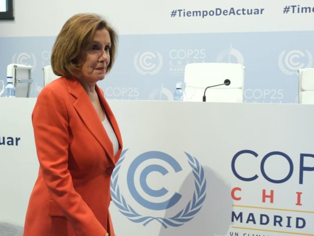 Nancy Pelosi tells the UN climate summit, 'we are still in it' after Trump withdrew from the Paris climate deal last month