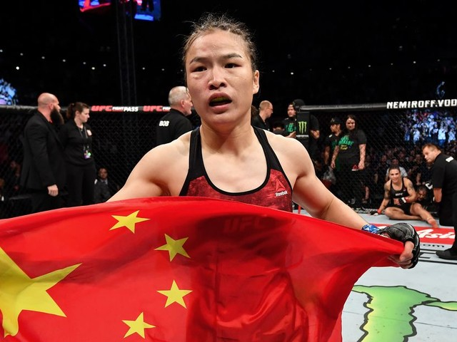 Video: US presidential candidate trains with UFC champ Weili Zhang