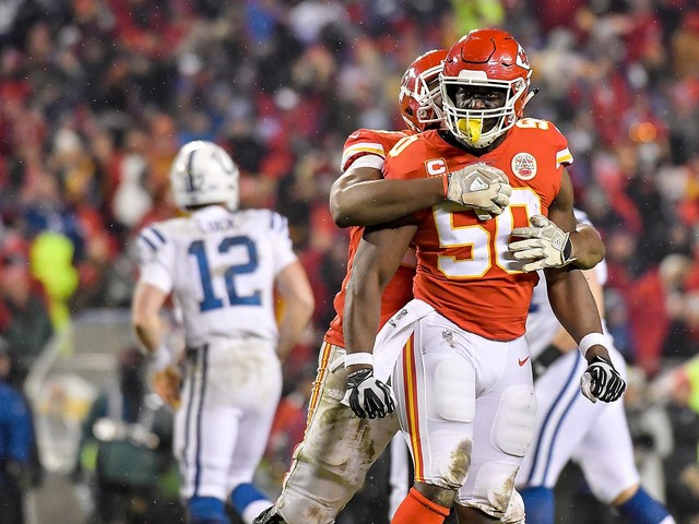 Chiefs roll past Colts to reach AFC title game