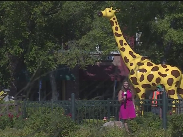 Nut Tree Giraffe Returns To Plaza Standing Tall With Fresh Coat Of Paint & New Name