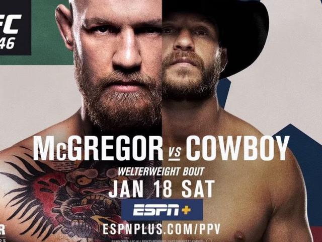 UFC 246: Save 25% on ESPN+ while watching Conor McGregor battle Donald 'Cowboy' Cerrone