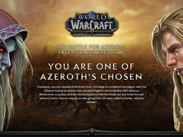 Test Battle for Azeroth for 3 Days - Promotion for Select Accounts