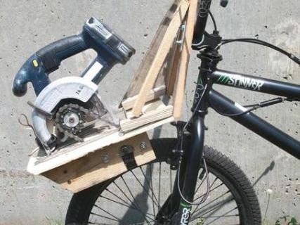 The DIY Junkyard E-BMX Friction Drive