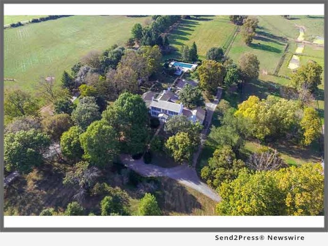 Announcing Rare Opportunity to Own a Premier Historic Horse Farm Estate on 31 Acres in Kentucky