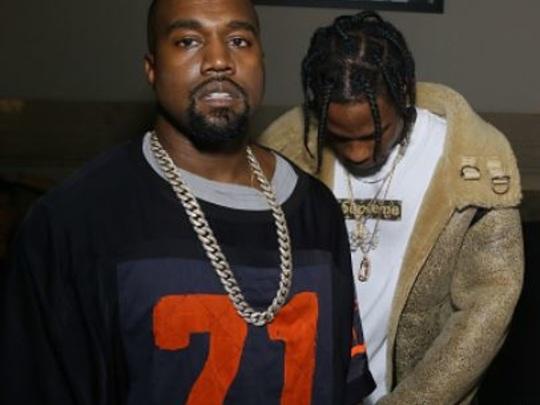 Travis Scott Getting Pregnancy Advice From Kanye West?