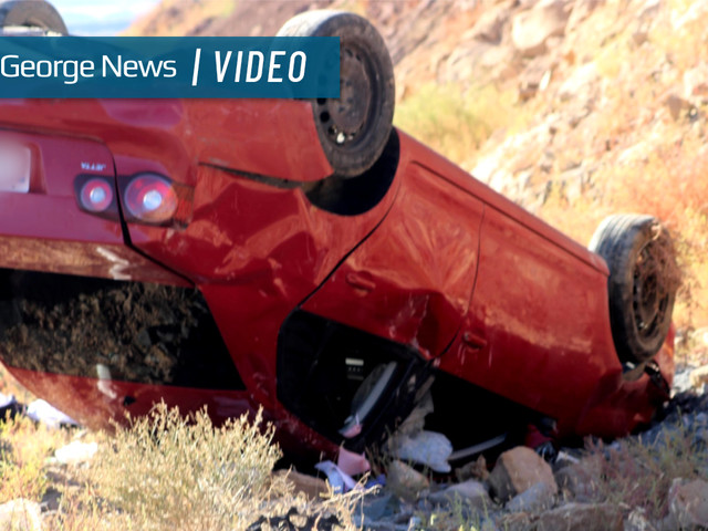Driver transported to hospital following rollover on SR-7