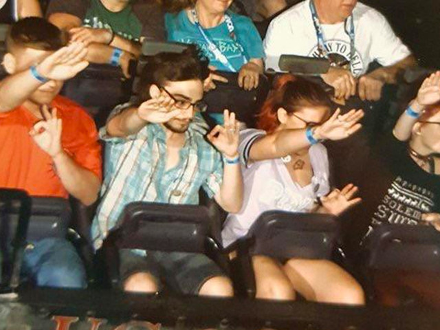 Group flashes apparent Nazi salutes on Universal Studios ride