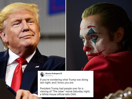 Trump is hosting a White House screening of the joker