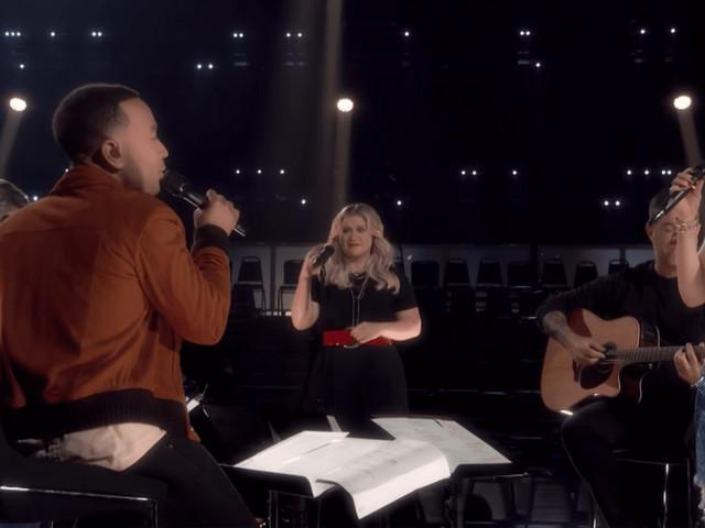 "Watch John Legend, Kelly Clarkson, Blake Shelton, and Gwen Stefani Cover ""More Than Words"""