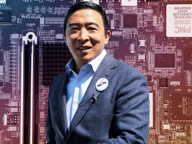 Andrew Yang vaults to the front of the 2020 pack with a surprisingly big haul from Big Tech