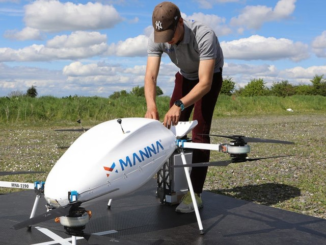 From Ben and Jerry's ice cream to pizzas for priests: How drone startup Manna adapted to the coronavirus pandemic