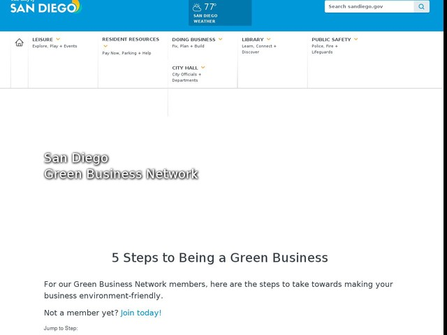 GBN 5 Steps to Green Business