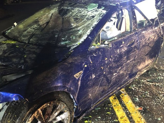 Man dies after Tesla crashes into San Francisco area pond