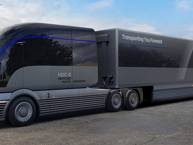 Hyundai unveiled a semi-truck concept that runs on hydrogen and would compete with the Tesla Semi
